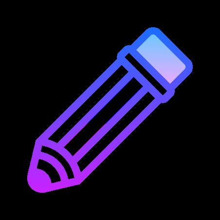 Bearbeiten Icon in Gradient Line