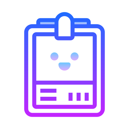Name Tag icon in Gradient Line