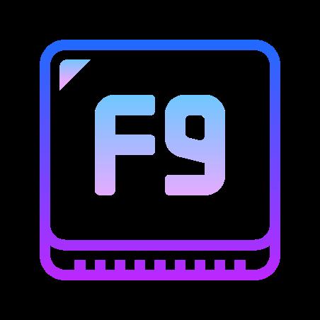 F9 Key icon
