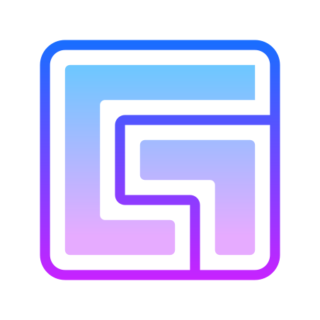 Facebook Gaming icon in Gradient Line