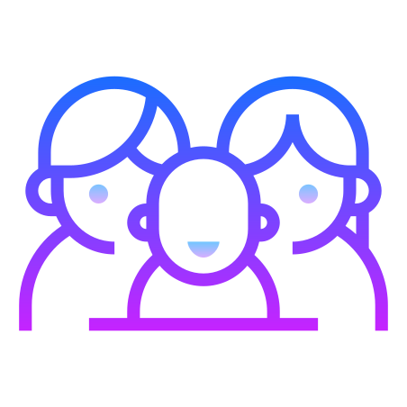Family icon in Gradient Line