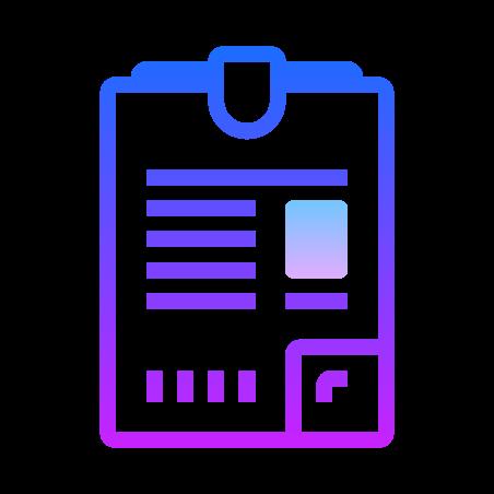 File icon in Gradient Line
