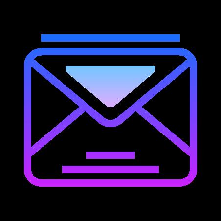 Envelope icon in Gradient Line