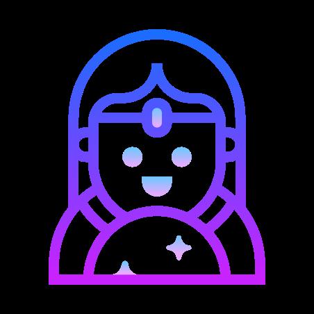 Fortune Teller icon in Gradient Line