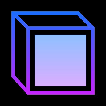 전면보기 icon in Gradient Line