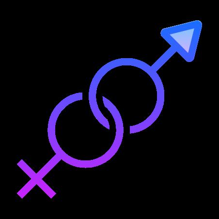Gender icon in Gradient Line