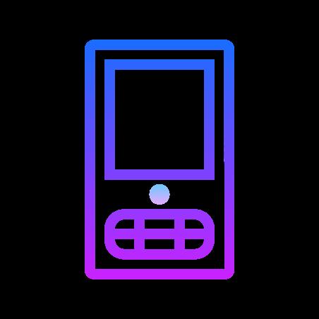 Google Mobile icon in Gradient Line