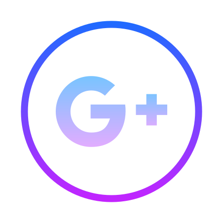 Google Plus Icon in Gradient Line