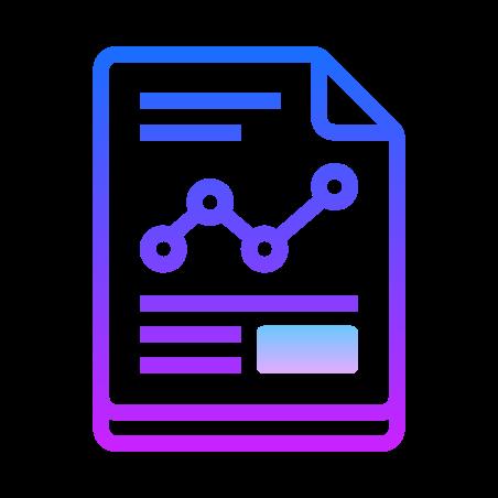 Graph Report icon in Gradient Line