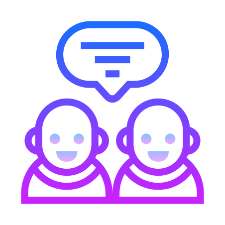 Group Task icon in Gradient Line