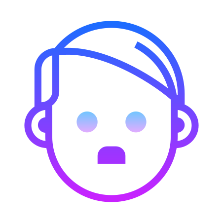 Hitler icon in Gradient Line