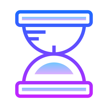 Sand Timer icon in Gradient Line