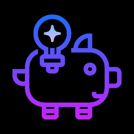 Idea Bank icon in Gradient Line