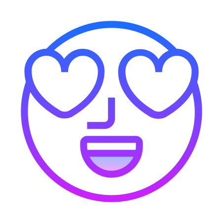 In Love icon in Gradient Line