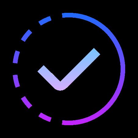 In Progress icon in Gradient Line