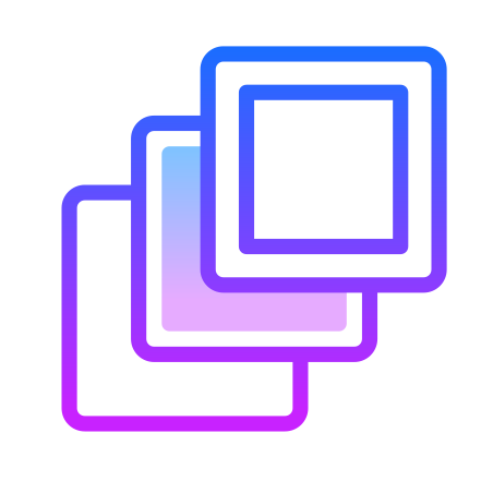 Layers icon in Gradient Line