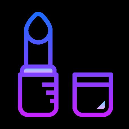 Lipstick icon in Gradient Line