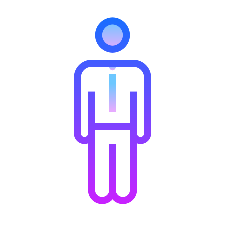 Employee icon in Gradient Line