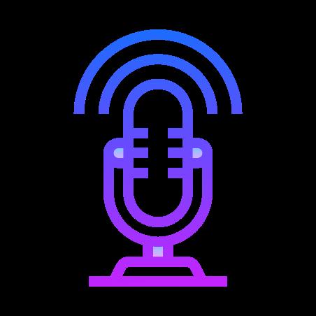 Иконка Микрофон в стиле Gradient Line