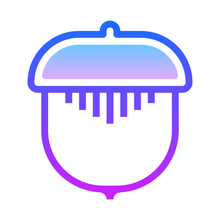 Nut icon in Gradient Line