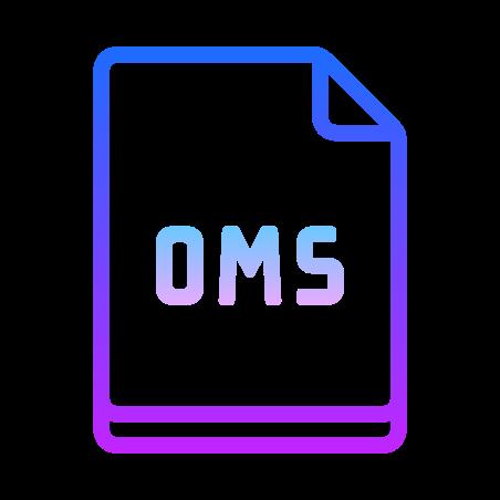 OSM icon in Gradient Line