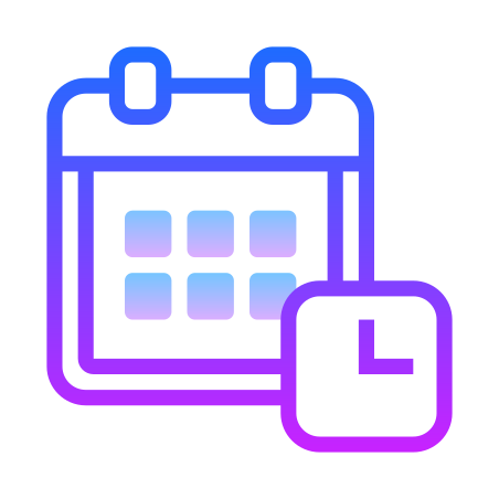 Schedule icon in Gradient Line