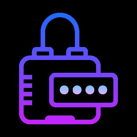 Password icon in Gradient Line