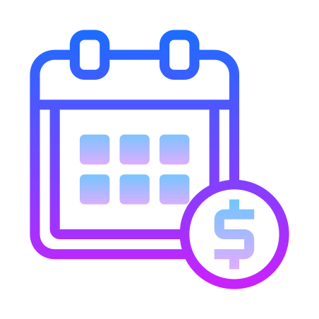 Pay Date icon in Gradient Line
