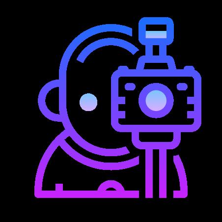 Photographer icon in Gradient Line
