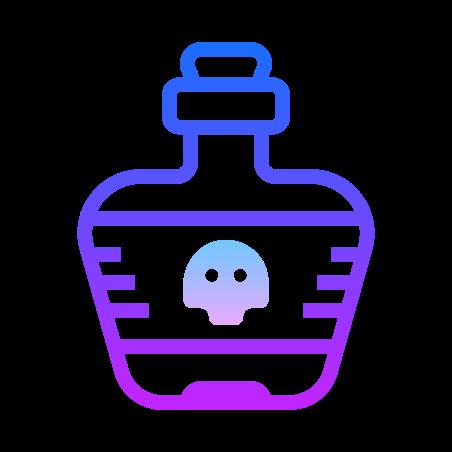 Poison Bottle icon in Gradient Line