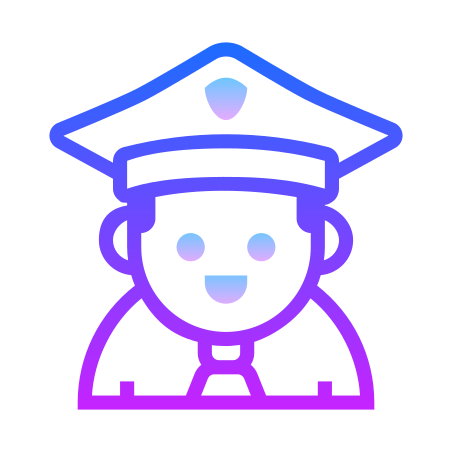 Police icon in Gradient Line
