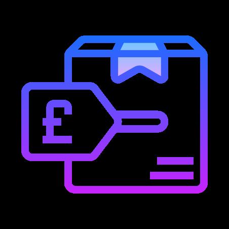 Etichetta prezzo sterlina icon