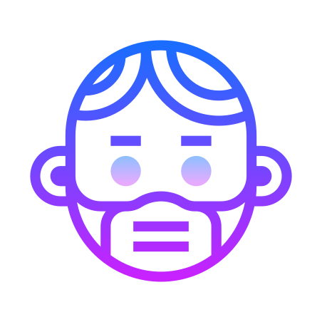 Protection Mask icon in Gradient Line