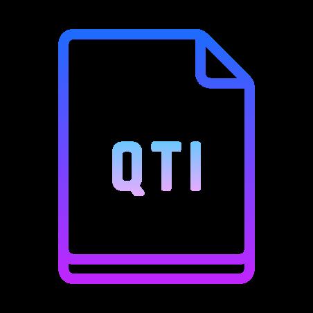 QTI icon in Gradient Line