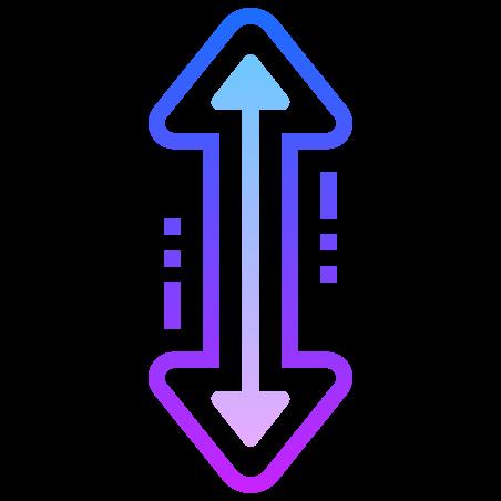 수직 크기를 조정 icon