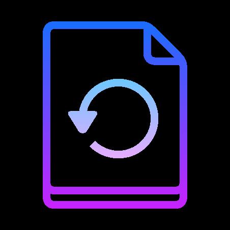 Restore Page icon in Gradient Line
