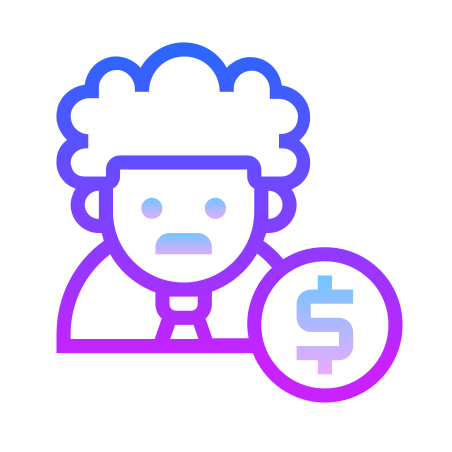 Salary male icon in Gradient Line