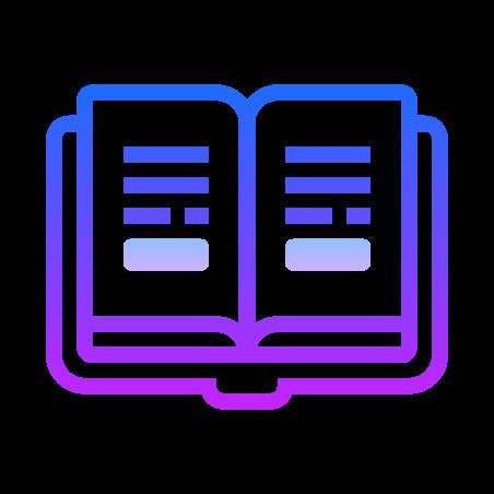 Study icon in Gradient Line