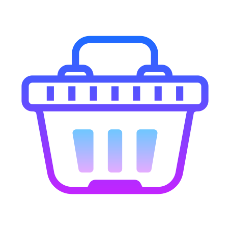 Shopping Basket icon in Gradient Line