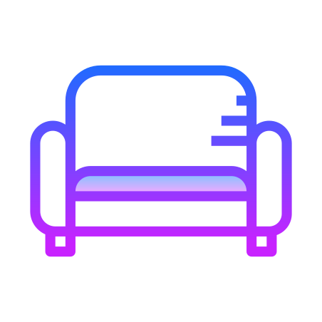 Sofa icon in Gradient Line