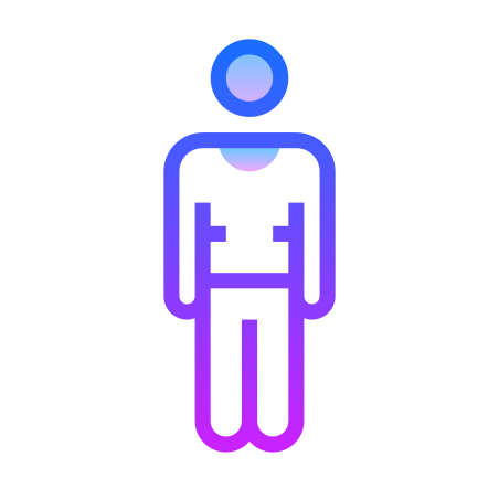 Standing Man icon in Gradient Line
