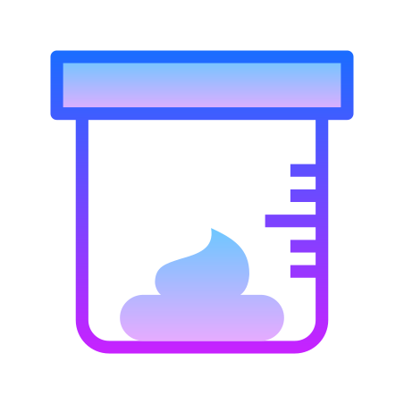 Stool Analysis icon in Gradient Line