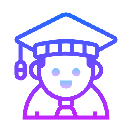 Student Male icon in Gradient Line