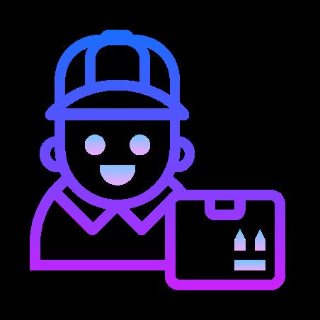 Supplier icon in Gradient Line