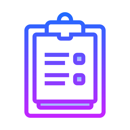 Survey icon in Gradient Line
