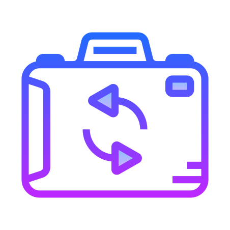 Switch Camera icon in Gradient Line