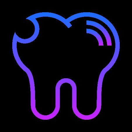 이빨이 금이 간다. icon
