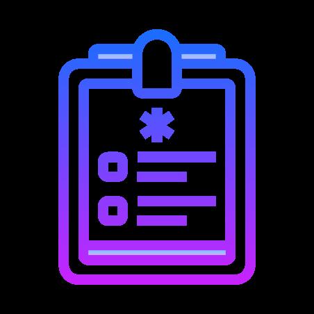 Treatment List icon in Gradient Line