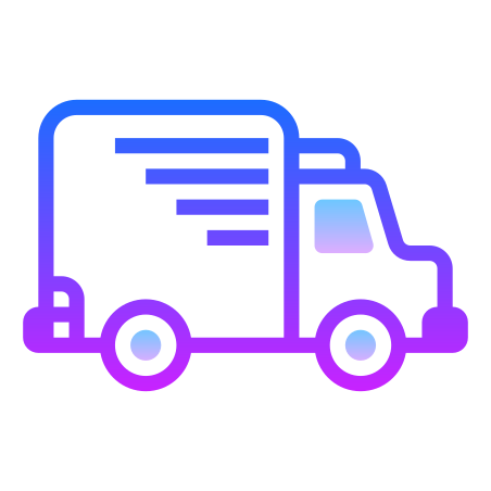 Truck icon in Gradient Line