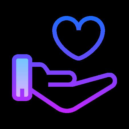 Trust icon in Gradient Line
